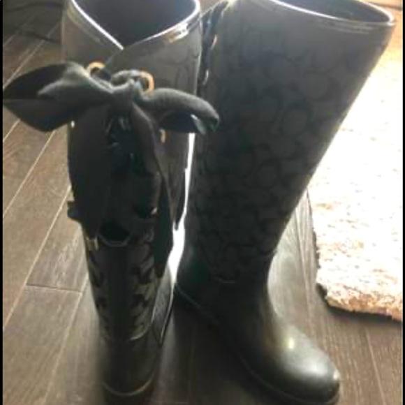 Coach rain boots,